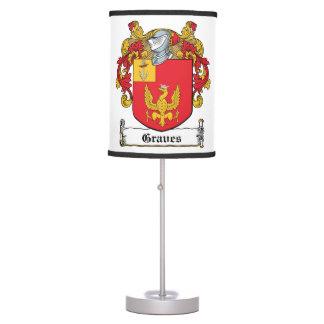 Escudo de la familia de los sepulcros lámpara de escritorio
