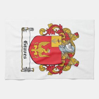 Escudo de la familia de los sepulcros toallas de mano