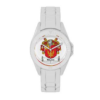 Escudo de la familia de los sepulcros relojes de pulsera