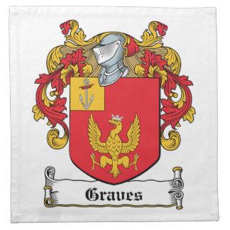 Escudo de la familia de los sepulcros servilleta