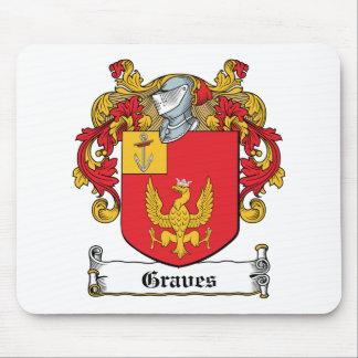 Escudo de la familia de los sepulcros alfombrillas de raton