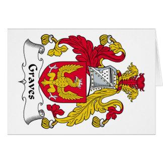 Escudo de la familia de los sepulcros tarjeta de felicitación