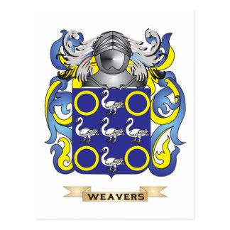 Escudo de la familia de los tejedores escudo de a tarjetas postales