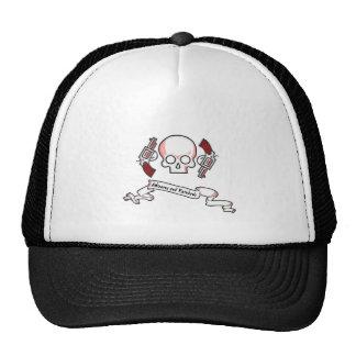 Escudo de la familia de los unicornios y de los ar gorras de camionero
