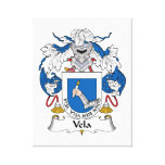 Escudo de la familia de los velos lona envuelta para galerias