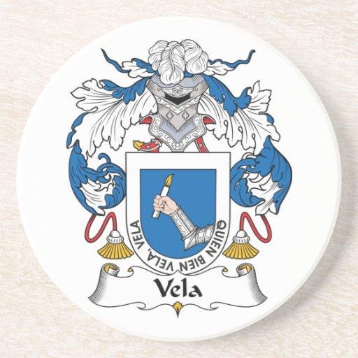 Escudo de la familia de los velos posavasos para bebidas