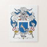 Escudo de la familia de los velos rompecabeza con fotos