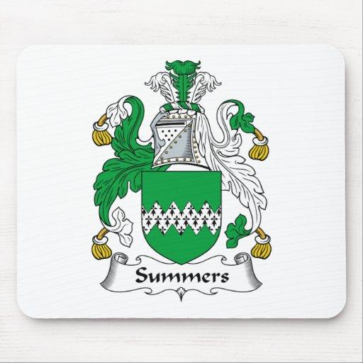 Escudo de la familia de los veranos tapetes de raton