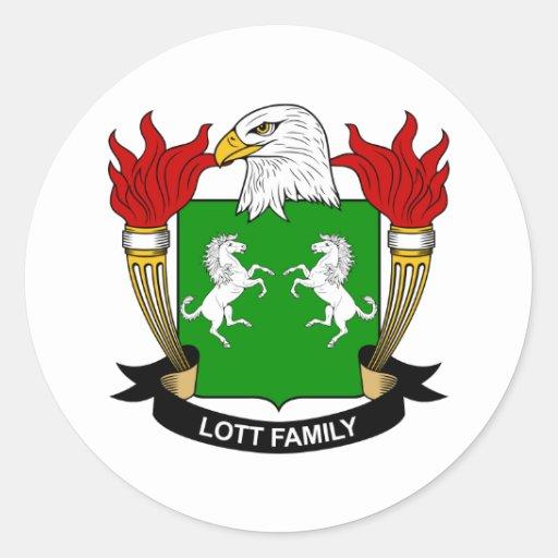 Escudo de la familia de Lott Pegatina Redonda
