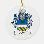 Escudo de la familia de Lotti Ornamento Para Arbol De Navidad