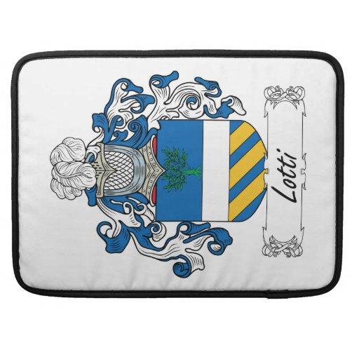 Escudo de la familia de Lotti Funda Para Macbooks