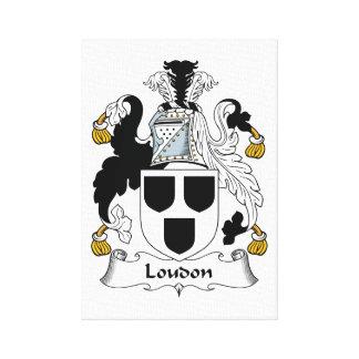 Escudo de la familia de Loudon Lona Estirada Galerías