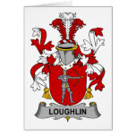 Escudo de la familia de Loughlin Tarjetas