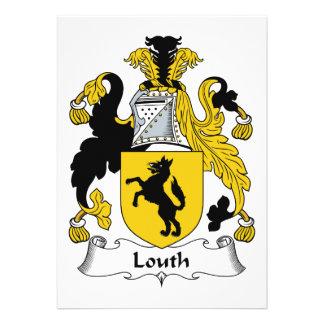 Escudo de la familia de Louth Invitación Personalizada