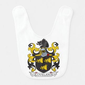 Escudo de la familia de Loveland Baberos