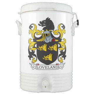 Escudo de la familia de Loveland Enfriador De Bebida Igloo