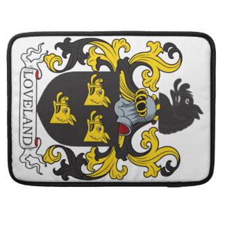 Escudo de la familia de Loveland Fundas Para Macbooks