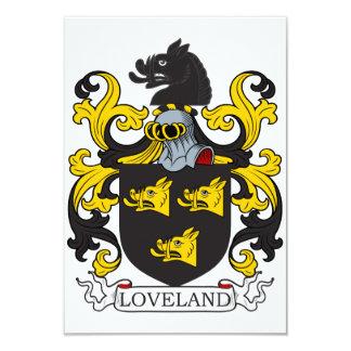 """Escudo de la familia de Loveland Invitación 3.5"""" X 5"""""""
