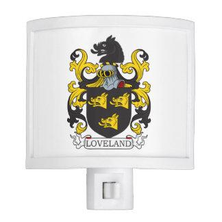 Escudo de la familia de Loveland Lámparas De Noche
