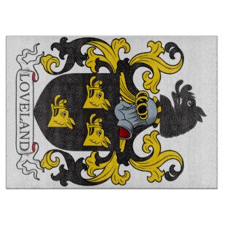 Escudo de la familia de Loveland Tablas Para Cortar
