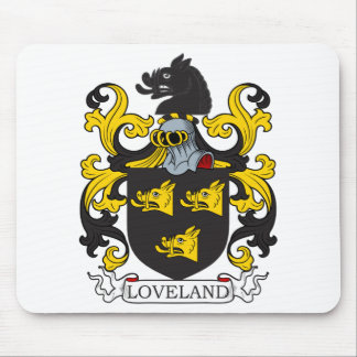 Escudo de la familia de Loveland Alfombrilla De Raton