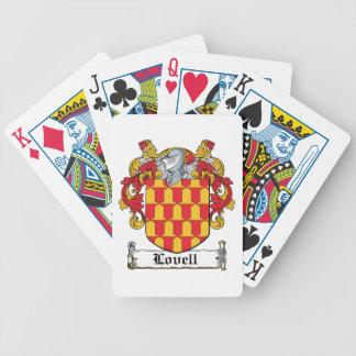 Escudo de la familia de Lovell Baraja Cartas De Poker