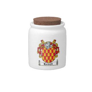 Escudo de la familia de Lovell Platos Para Caramelos