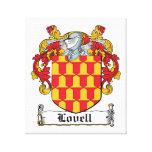 Escudo de la familia de Lovell Impresion De Lienzo
