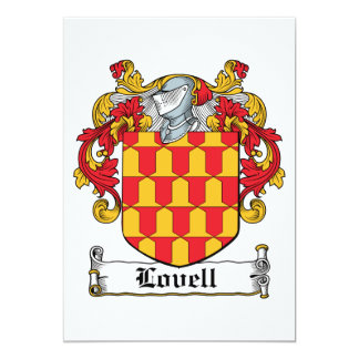 Escudo de la familia de Lovell Invitación 12,7 X 17,8 Cm
