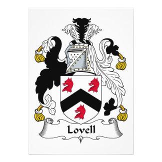 Escudo de la familia de Lovell Invitacion Personalizada