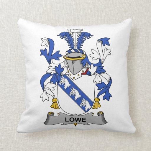 Escudo de la familia de Lowe Cojin