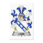 Escudo de la familia de Lowe Impresion En Lona