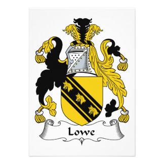 Escudo de la familia de Lowe Invitación