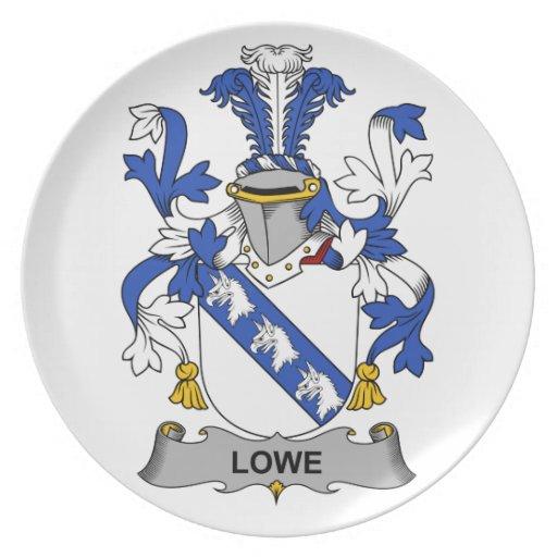 Escudo de la familia de Lowe Plato De Comida