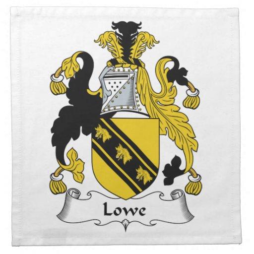 Escudo de la familia de Lowe Servilleta De Papel