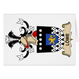 Escudo de la familia de Löwe Tarjeton