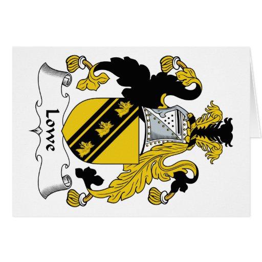 Escudo de la familia de Lowe Tarjeta De Felicitación