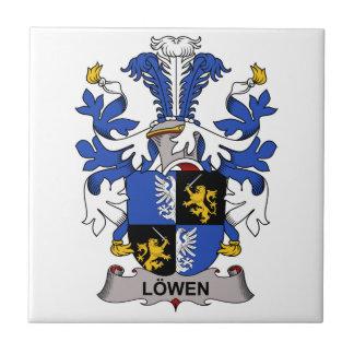 Escudo de la familia de Lowen Azulejo Cuadrado Pequeño