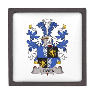 Escudo de la familia de Lowen Caja De Recuerdo De Calidad