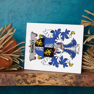 Escudo de la familia de Lowen Placas Con Foto
