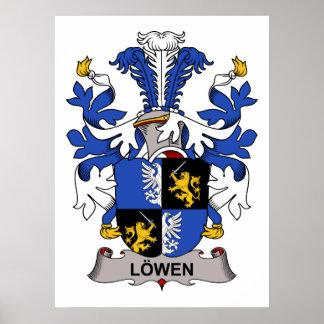 Escudo de la familia de Lowen Póster