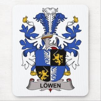 Escudo de la familia de Lowen Alfombrilla De Ratones