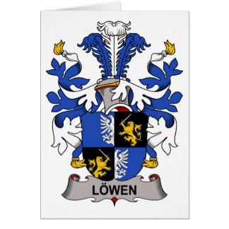 Escudo de la familia de Lowen Tarjeta De Felicitación