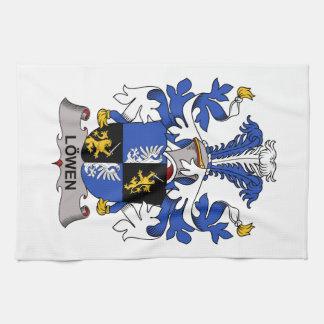 Escudo de la familia de Lowen Toallas De Cocina