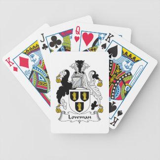 Escudo de la familia de Lowman Baraja Cartas De Poker