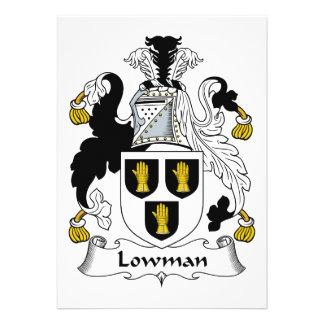 Escudo de la familia de Lowman Invitacion Personal