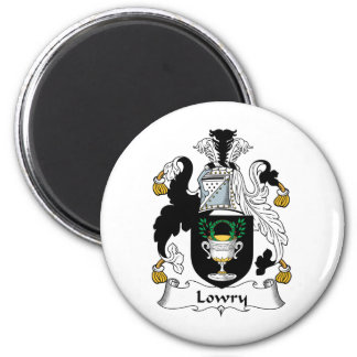 Escudo de la familia de Lowry Imán Redondo 5 Cm