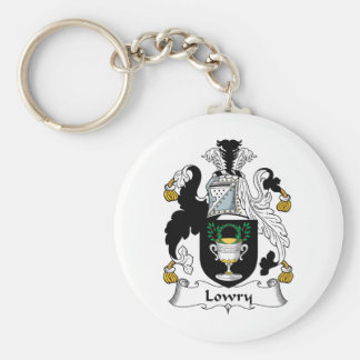 Escudo de la familia de Lowry Llavero Redondo Tipo Pin