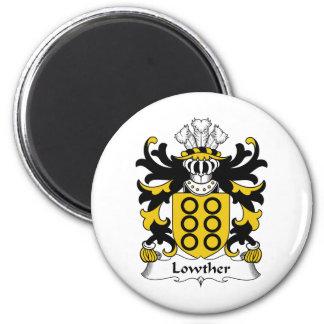 Escudo de la familia de Lowther Imán Redondo 5 Cm