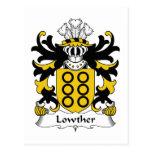 Escudo de la familia de Lowther Tarjetas Postales